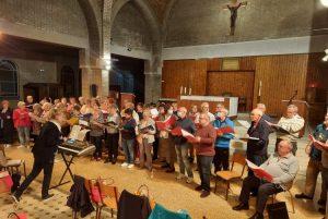 Répétitions pour le concert de Quentin Choeur Chante  sur l'invitation de l'Association Loisirs et Détente à Pontruet